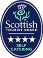 Rated 4 star Self Catering by Scottish Tourist Board